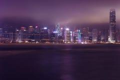 Nacht Hong Kong Stockfotografie