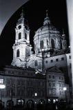 Nacht I van Praag Stock Foto