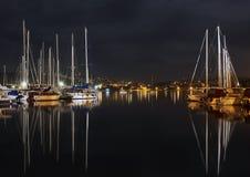 Nacht im Hafen Lizenzfreies Stockfoto