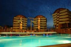 Nacht im türkischen Hotel Stockfotografie