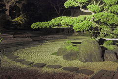 Nacht im Zengarten Lizenzfreie Stockbilder