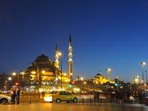 Nacht in Istanboel, Turkije royalty-vrije stock afbeelding