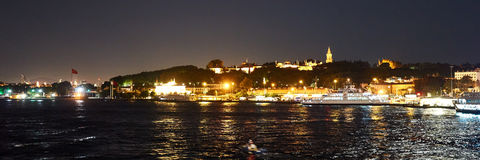 Nacht in Istanbul Stockfotos