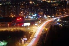 Nacht in Jekaterinburg Lizenzfreies Stockfoto