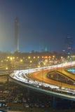 Nacht Kaïro Royalty-vrije Stock Foto's