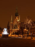Nacht - kerk Stock Foto