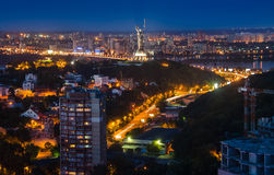 Nacht-Kiew-Mitte, Ukraine Stockbild