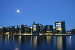 Nacht Kopenhagen Lizenzfreie Stockfotos