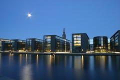 Nacht Kopenhagen Royalty-vrije Stock Afbeeldingen