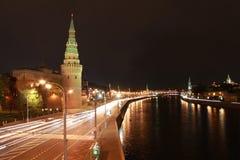 Nacht Kremlin Stockfotografie