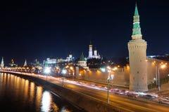 Nacht Kremlin Lizenzfreies Stockbild