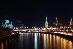 Nacht Kremlin Stockbild