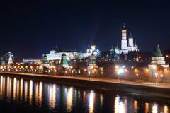 Nacht Kremlin Stockfotos
