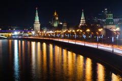 Nacht Kremlin Lizenzfreies Stockfoto
