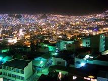 Nacht in La Paz royalty-vrije stock afbeelding