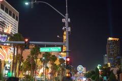 Nacht in Las Vegas stockbilder