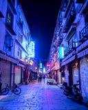 Nacht Lhasas BT Stockbilder