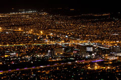 Nacht Lights-1 EL Paso-Juarez Stockbild