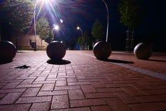 Nacht in Litouwse stad Royalty-vrije Stock Fotografie