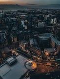 Nacht Liverpool stock afbeelding