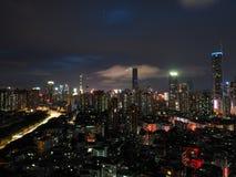 Nacht in Louhu royalty-vrije stock foto's