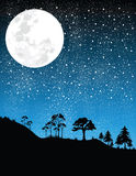 Nacht-maan   Stock Foto's