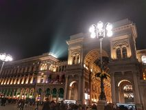 Nacht in Mailand stockfoto