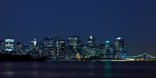 Nacht Manhattan Lizenzfreie Stockfotografie