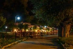 Nacht in Mengen Stock Fotografie