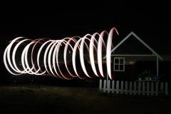 Nacht mit Licht lizenzfreies stockbild