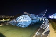 Nacht in modern deel 2 van Valencia Royalty-vrije Stock Afbeeldingen