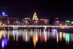 Nacht Moskau Stockfotos