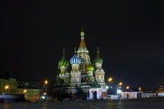 Nacht Moskau stockbild