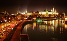 Nacht Moskau Stockfotografie