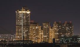 Nacht Moskau Lizenzfreies Stockbild