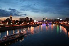 Nacht in Moskau Stockbild