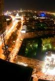 Nacht in Moskau-Stadt Lizenzfreie Stockbilder