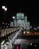 Nacht Moskou royalty-vrije stock afbeelding