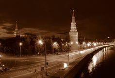 Nacht Moskou. stock afbeelding