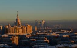 Nacht Moskou. royalty-vrije stock foto