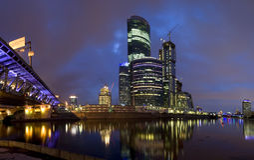 Nacht Moskou Stock Foto