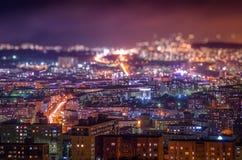Nacht Murmansk Stockbild