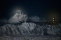 Nacht Nes Atlantik Stockbild