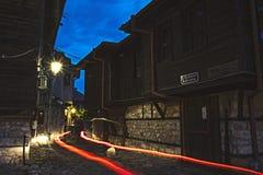 Nacht Nessebar bulgarien Stockbilder