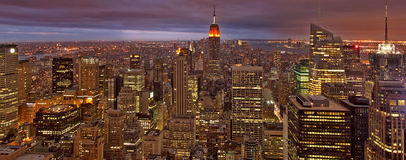 Nacht New York royalty-vrije stock afbeelding