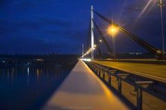 Nacht in Novi Sad, Servië Stock Fotografie