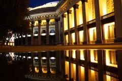 Nacht Nowosibirsk stockbild