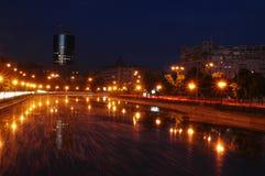 Nacht op Boekarest Royalty-vrije Stock Afbeelding