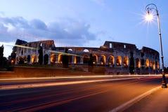 Nacht op Coliseum royalty-vrije stock afbeeldingen