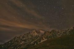 Nacht op een berg Royalty-vrije Stock Fotografie